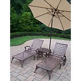 Elite 3pc Lounge Set with Tilting Umbrella