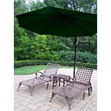 Elite 3pc Lounge Set with Cantilever Umbrella