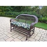 Coventry Wicker Glider w/ Floral Cushion