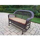 Coventry Wicker Glider with Stripe Cushion