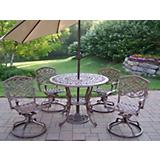 Mississippi 5pc Dining Set w/ Tilting Umbrella