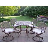 Mississippi 5pc Swivel Dining Set with Cushions