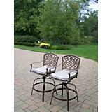 Mississippi Swivel Bar Stool with Cushions 2 Pack