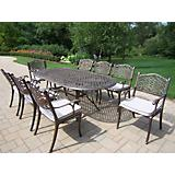 Mississippi 82x42 Oval 9pc Dining Set with Cushion