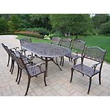 Mississippi Aluminum 82x42In Oval 9pc Dining Set