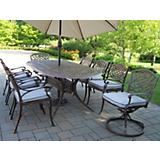 Mississippi 9pc Set w/ Swivel Cushion Umbrella