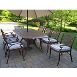 Mississippi 9pc Set w/ Cushion plus Beige Umbrella