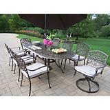 Mississippi 9pc Set w/ Swivel Chair plus Umbrella