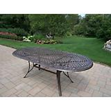 Mississippi Cast Aluminum 82x42 Oval Dining Table