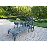 Mississippi Cast Aluminum 2pc Chaise Lounge Set