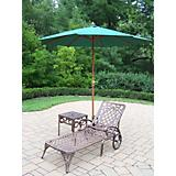 Mississippi 2pc Lounge Set w/ Umbrella n Stand