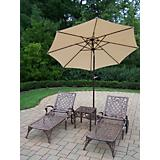 Mississippi 3pc Lounge Set w/ Tilting Umbrella
