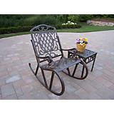 Mississippi Cast Aluminum 2pc Rocking Set