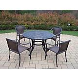 Sunray Tuscany 48Inch 5pc Dining Set