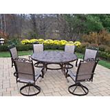 Mississippi Cascade 7pc Sling Swivel Dining Set