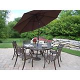 Mississippi 7pc Dining Set with Tilting Umbrella