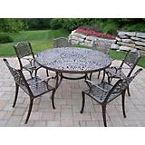 Mississippi Cast Aluminum 60Inch 7pc Dining Set