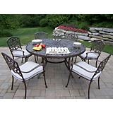 Mississippi 60Inch 7pc Dining Set with Cushions