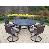 Mississippi Tuscany 60Inch 7pc Swivel Dining Set