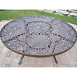 Mississippi Cast Aluminum 60Inch Dining Table