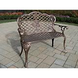 Texas Cast Aluminum Rose Loveseat