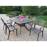 Oxford Mississippi Cast Aluminum 7pc Dining Set
