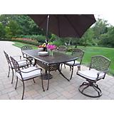 Oxford Mississippi 7pc Set w/ Chairs and Umbrella