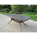 Oxford Cast Aluminum 70Inch by 40Inch Dining Table