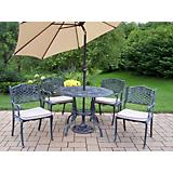 Tea Rose 5pc Set with Cushions Umbrella and Stand