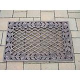 Tea Rose Cast Aluminum Doormat