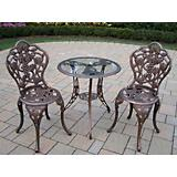 Vineyard Glass Top 3pc Bistro Set