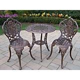American Eagle Cast Aluminum 3pc Bistro Set