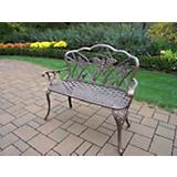 Butterfly Cast Aluminum Loveseat Bench