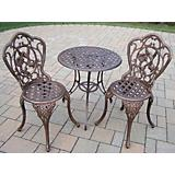 Hummingbird Cast Aluminum 3pc Bistro Set