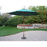 9 Ft Green Umbrella and Stand