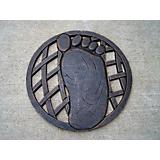 Stepping Stone Right Foot Cast Aluminum Antiq Brz