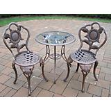 Sunflower Cast Aluminum 3pc Bistro Antique Bronze