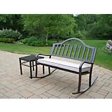 Rochester 2pc Rocker Bench Set with Cushion