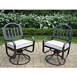 Rochester Swivel Chair with Cushion (Two Pack)
