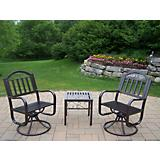 Rochester 3pc Swivel Chair Set