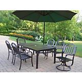 Rochester 7pc Set with 2 Chair Offset Umbrella