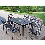 Rochester 7pc Dining Set with 2 Swivel Chairs