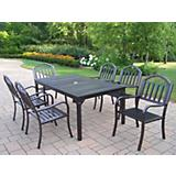 Rochester 67Inch x 40Inch 7pc Dining Set