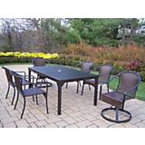 Rochester Tuscany 7pc Set with 2 Swivel Chairs
