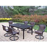 Rochester Tuscany 67Inx40In 7pc Swivel Dining Set