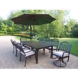 Rochester 9pc Set w/ Cushions plus Umbrella