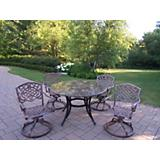 Stone Art 48Inch 5pc Swivel Dining Set