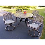 Stone Art Mississippi 5pc Set w/ Chair and Cushion