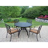 Hampton 5pc Dining Set with Sunbrella Cushions