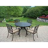 Hampton 5pc 48Inch Dining Set with Cushions